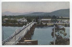 TASMANIA c.1908: unused Walch & Sons card w/view HUON BRIDGE PICNIC HOTEL (250)