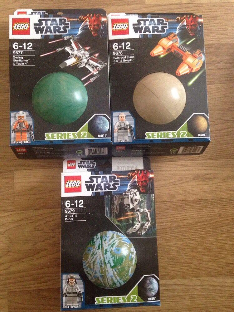 Lego Star Wars Planets  Series 2 Full Set 9677 9678 9679 Yavin 4 Bespin