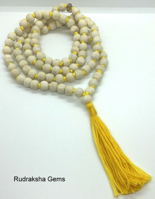 TULSI TULASI KRISHNA ISKCON MALA BUDDHA BASIL WOOD MEDITATION 108 BEADS NECKLACE