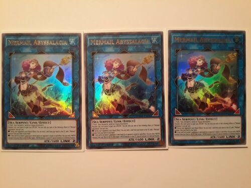 Yugioh3xMermail AbyssalaciaDANE1st EditionUltra RareNear Mint