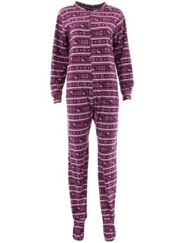 Hello Kitty Juniors Fair Isle Fleece Footed One-Piece Pajamas One-Piece Footie