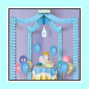 details about baby boy blue decorating kit for baby shower