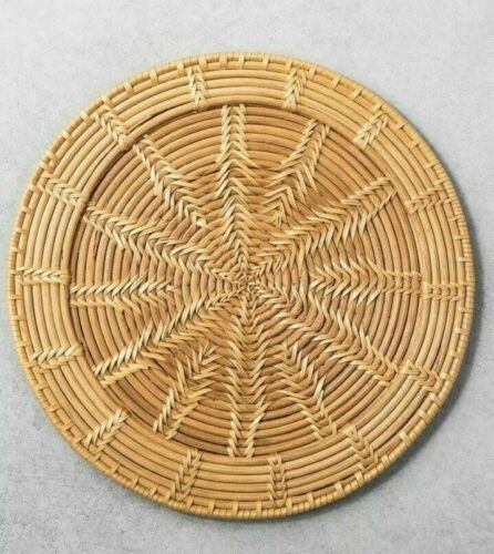 Hearth /& Hand Magnolia RATTAN CHARGER PLATES Woven  Set of 4 SOLD OUT NWT