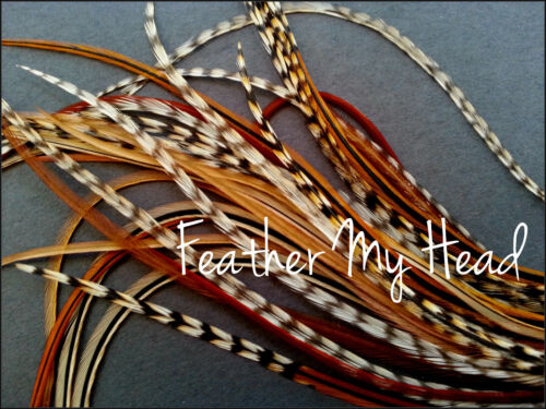 Feather Hair Extensions Single Color Natural Un-Dyed Feathers