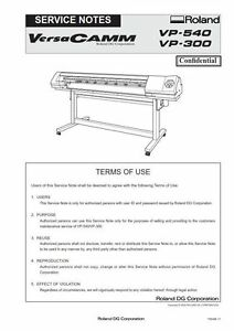 roland vp 540 vp 300 service manual wide format printer versawork rh ebay com Used VersaCAMM