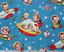 Michael Miller Retro Rocket Rascals Astronaut Fabric