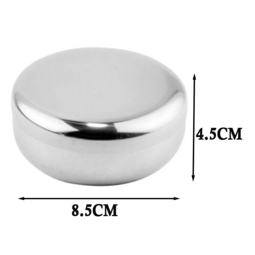 1X Stainless Steel Bowl Double-walled Insulated Korean Rice Soup Bowl W// Lid US
