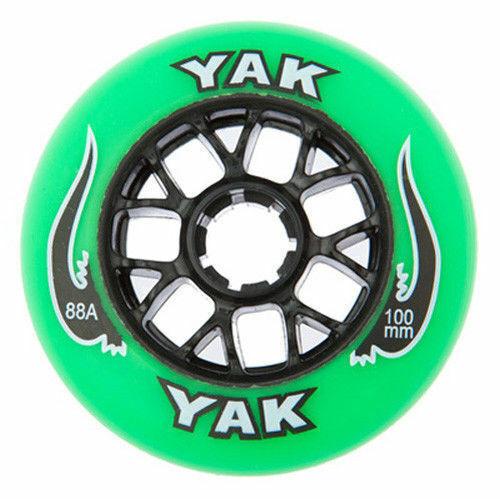 8-Pack 100mm Inline Skate Wheels Indoor-Outdoor Rollerblade Speed Fitness 88A