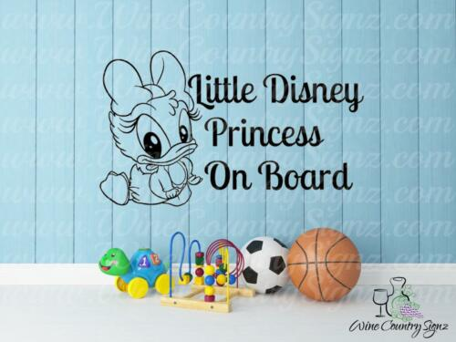 Disney Princess On Board Baby Daisy Daughter Car Window Wall Decal Sticker