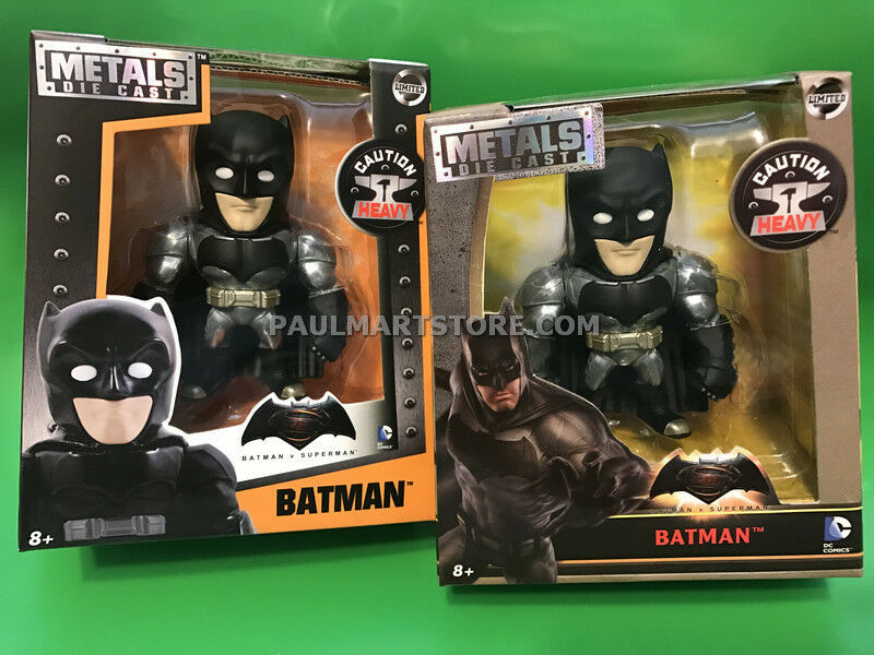 Jada Diecast DC Film Batman vs Superman et Batman Paquet Bare métaux Ensemble de 2