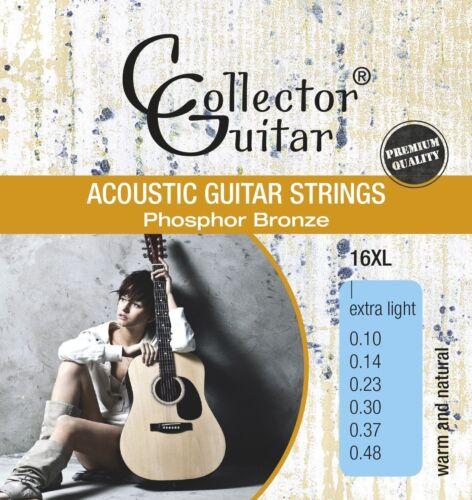 CollectorGuitar 16XL Akustik Westerngitarren-Saiten Phosphor Bronze Extra Light