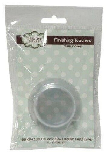 """Creative Expressions FINISHING TOUCHES 6 SMALL ROUND Plastic Treat CUPS 1.75/"""""""