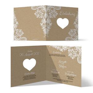Lasergeschnittene Hochzeit Einladungskarten Hochzeitskarten Rustikal