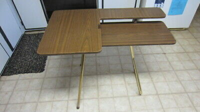 Portable Sewing Machine Table.Vintage Two Tier Folding Portable Sewing Machine Table Ebay