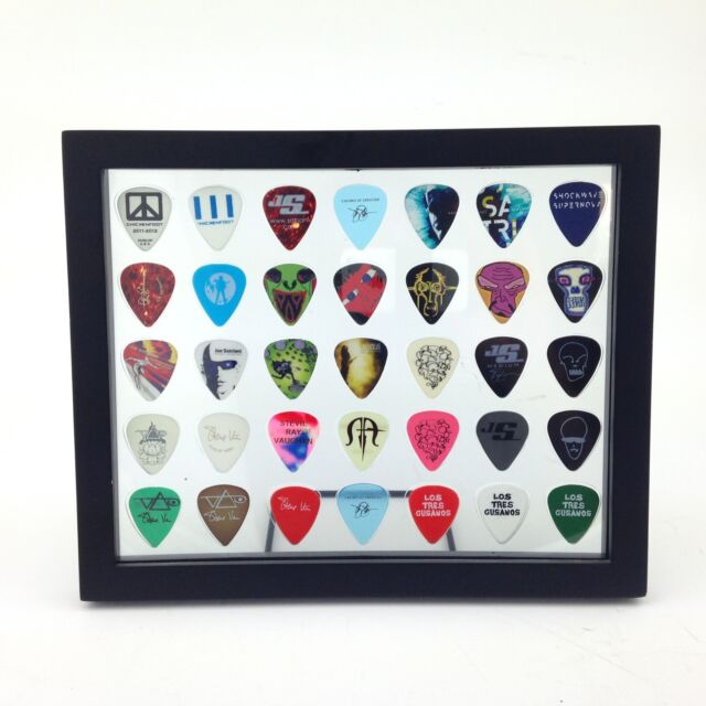 Guitar Pick Display Frame Insert 8 X 10 Horizontal Clear - Holds 35 ...