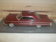 Spark S2957 Ford Galaxie 500 1963 Red 1/43 Mint in Plastic Case
