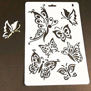 DIY Charm Butterfly Stencil Template Painting Scrapbooking Stamps ...