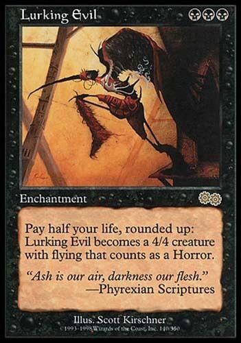 1x Lurking Evil Urza/'s Saga MtG Magic Black Rare 1 x1 Card Cards