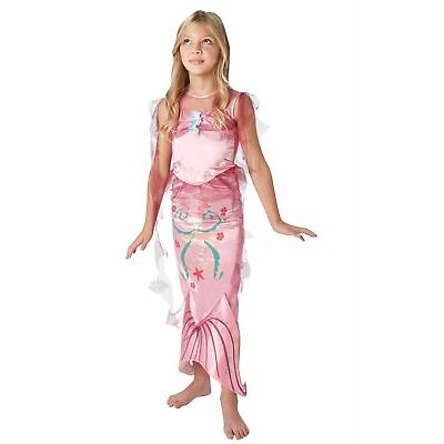 Girls Pink Little Mermaid Costume Fairy Tale Fancy Dress Child Princess Outfit