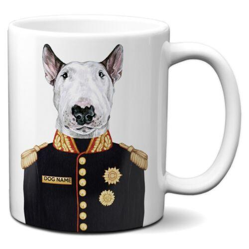 Personnalisée English bull terrier Tasse drôle chien cadeau uniforme militaire Cup FDM20