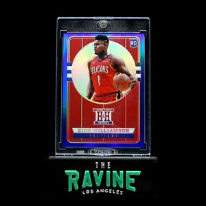ZION-WILLIAMSON-2019-20-PANINI-CHRONICLES-HOMETOWN-HEROES-BLUE-99-ROOKIE-RC