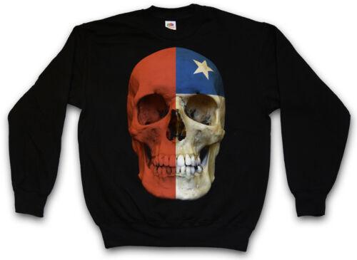 Chile Sweater Classic Mc Skull Banner Biker Pullover Sweatshirt Club Flag dqXXAwr