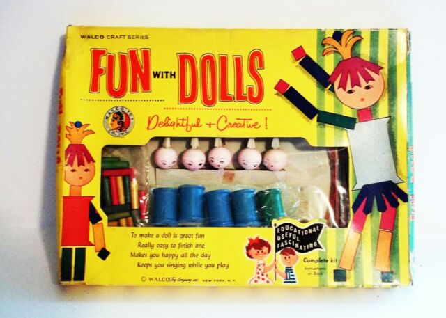 ~VINTAGE~1950'S~FUN WITH DOLLS~UNUSED~WALCO TOY COMPANY~