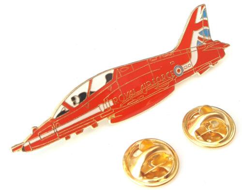 RAF Red Arrows Hawk Official Aeroplane Side View Enamel Lapel Pin Badge