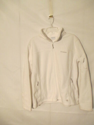 Columbia Fast Trek Fleece Jacket XL White  New with Defect