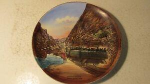 Souvenir China Plate Hanging Bridge Royal Gorge Colorado