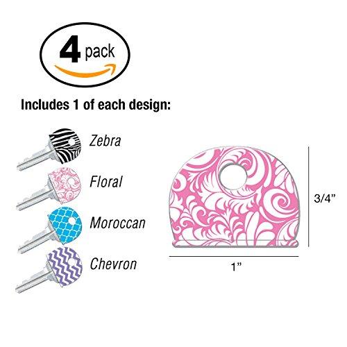 4 Pack Lucky Line Designer Pattern Key Identifier Caps 16304