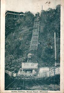 Postcard-Canada-Quebec-Montreal-Incline-Railway-Mount-Royal-c1918