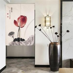 Japanese-Noren-Doorway-Curtain-Tapestry-Chinese-Lotus-Noren-Door-Curtain-Blind