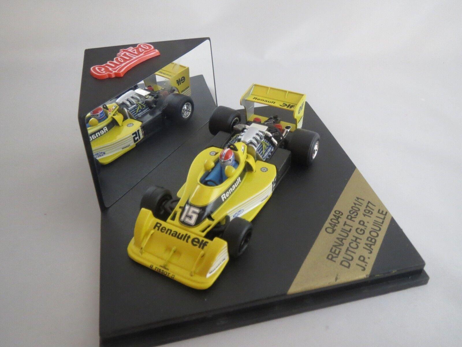 QUARTZO q4049 RENAULT rs01 1 (J.P. Jabouille) Dutch GP  15  1977  1 43