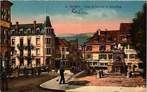 CPA-Saverne-Place-du-Marche-et-Grand-039-Rue-490278