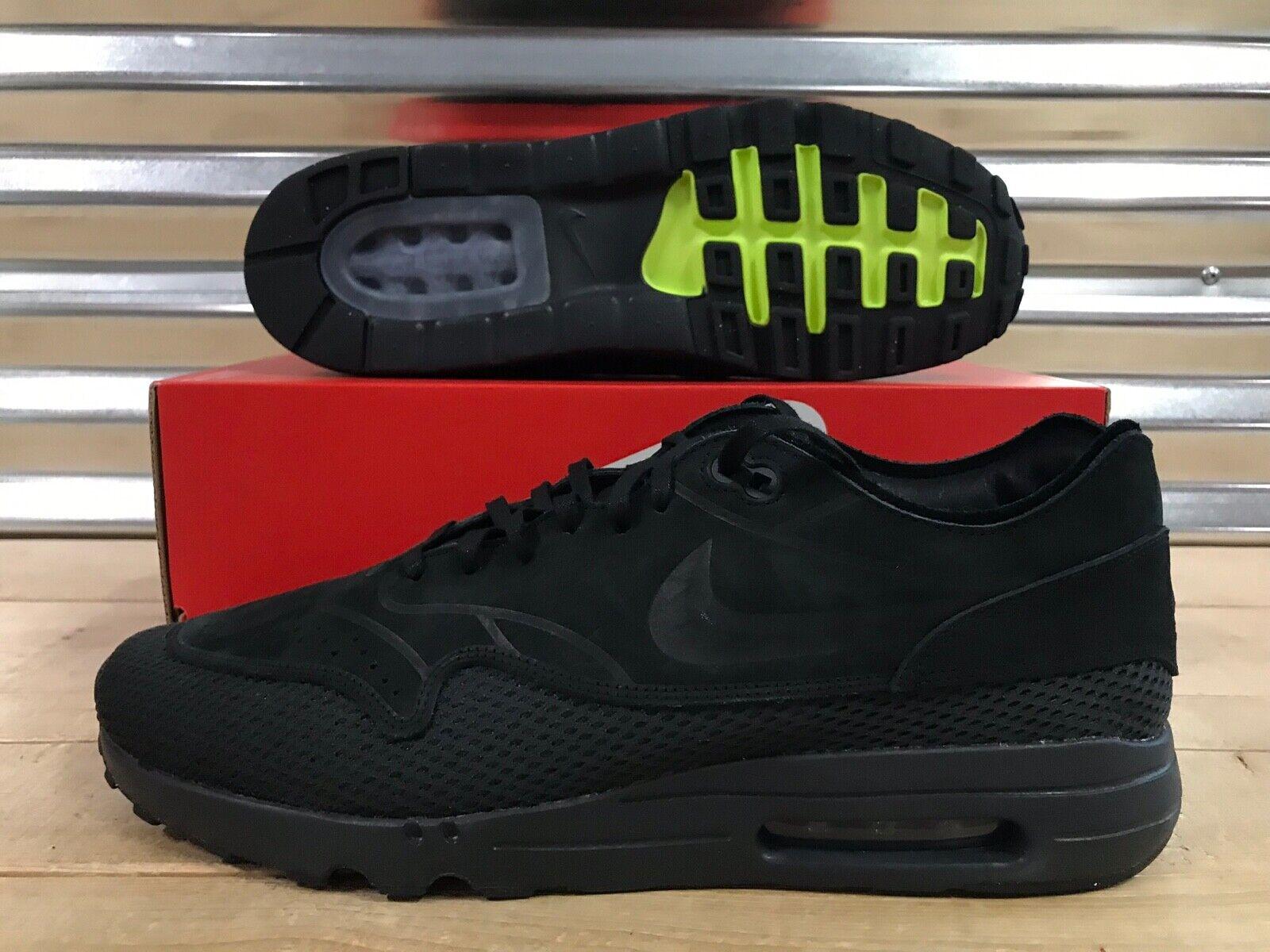 Nike Air Max 1 Ultra 2.0 Premium BR Breathe Black Anthracite SZ ( AO2449-002 )