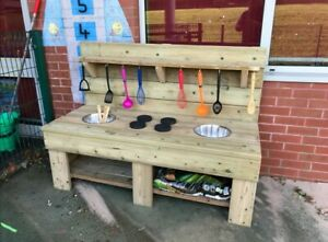 Childrens Mud Muddy Kitchen Outdoor Learning Sensory