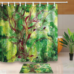 Image Is Loading Green Tree Life Painting Nature Fabric Waterproof