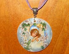 Regalo único de Navidad Pintado A Mano Angel Campanas Infantil Colgante de concha pakhomova