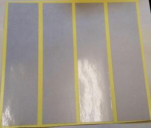 "4 x STICKY WHITE REFLECTIVE STRIPS-VINYL/T<wbr/>APE  8"" x 2"""