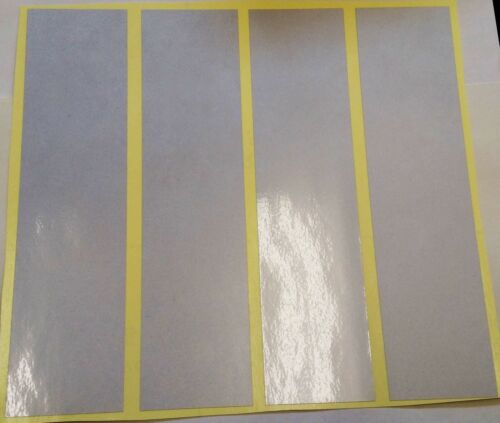 4 x STICKY WHITE REFLECTIVE STRIPS-VINYL/TAPE  8 x 2