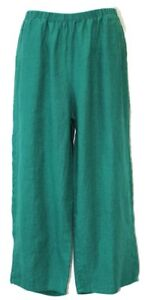 Flax Nwt 2x 3x Pantaloni Designs 1x Medium larghi Large Floods lino Emerald in rnUrBYP7