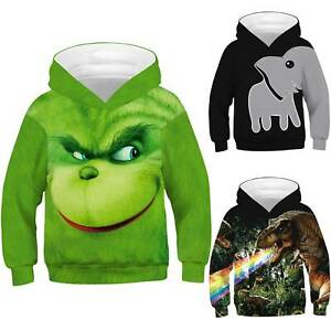 Kids-Boys-Girls-Hoodie-Sweatshirt-Cartoon-Print-Pullover-Sweater-Hooded-Jumper
