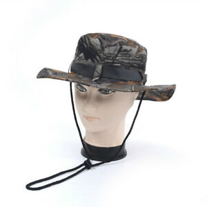 Camouflage-Mens-Bucket-Military-Hunting-Boonie-Hat-Fishing-Camping-Beach-Sun-Cap