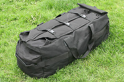 British Army Black Deployment black bag / holdall 110 litres use as backpack