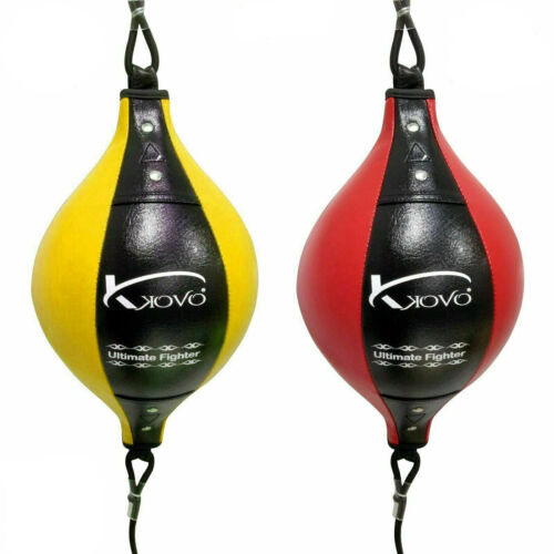 Floor to Ceiling Speed Ball Leather Grain Double End Dodge MMA Boxing Punch Bag