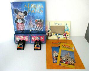 Vintage-Disneyland-Paris-Souvenir-Pins-Frame-Photo-Album-Park-Maps-1992