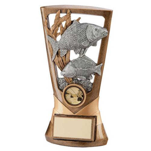 Pêche trophées Résine Carp et truite trophées 180 mm gravure gratuite