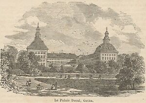 C8582 Germany - Gotha - The Ducal Palace - Stampa Antica - 1892 Engraving Bon GoûT
