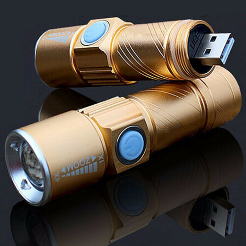 USB Handy LED Torche Rechargeable Lampe USB de Poche Lampe Zoom II